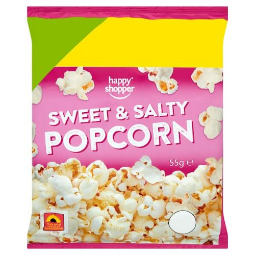 Happy Shopper Sweet & Salty Popcorn 55g (UK)